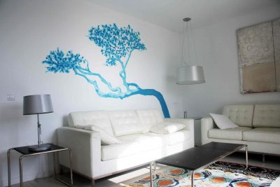 ATMA-art-Minorca-mural-painting-inside-private-collection-Arbor-del-mar-tree-see